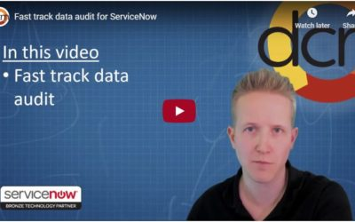 DCM Video: Fast Track Data Audit for ServiceNow