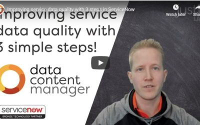 Video: 3 Steps for Better Service Data Quality