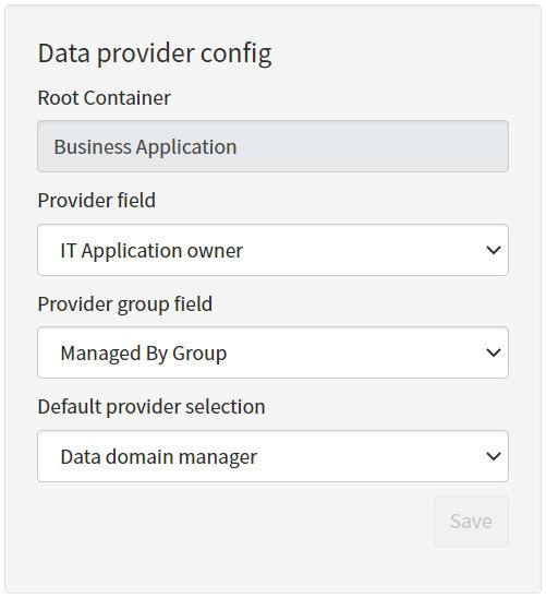 Data Provider Config